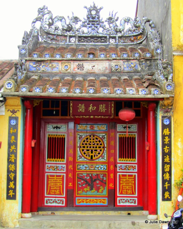Temple door, Hoi An, Vietnam