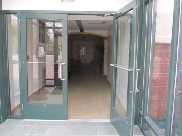 an open door at art center priorhouse