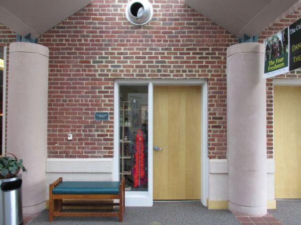 wooden door at art center priorhouse