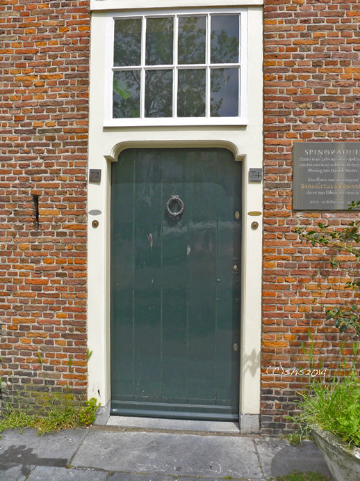 photo by susan sheldon nolen of Spinoza's Door in the Hague