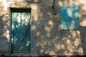 Door in quiet village in france