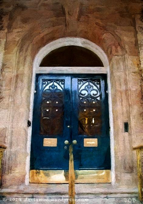 doors doorways entrance blue Dublin Ireland architecture